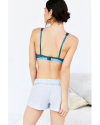 Urban Outfitters | Blue Mesh Lace Keyhole Underwire Bra | Lyst