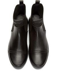 Calvin Klein Black Leather & Textile Gomma Boots for men