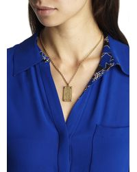 Marc By Marc Jacobs - Metallic Gold Tone Id Necklace - Lyst