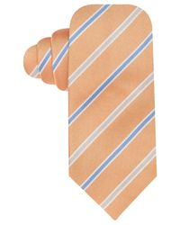 Vince Camuto | Orange Monte Stripe Slim Tie for Men | Lyst