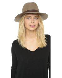 Hat Attack | Brown Wool Felt Medium Brim Hat | Lyst