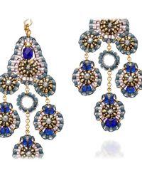 Miguel Ases Blue Quartz Earrings