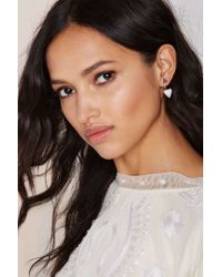 Nasty Gal | Metallic On The Howl Jacket Earrings | Lyst