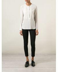 Brunello Cucinelli - Natural Collarless Shirt - Lyst