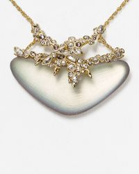 """Alexis Bittar - Metallic Lucite & Crystal Lace Pendant Necklace, 16"""" - Lyst"""