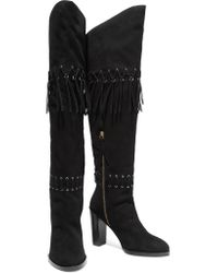 Rebecca Minkoff Black Bardot Suede Over-the-knee Boots