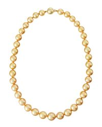 Belpearl | Metallic 18 12-9mm Round South Sea Pearl Necklace | Lyst