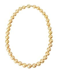 Belpearl - Metallic 18 12-9mm Round South Sea Pearl Necklace - Lyst