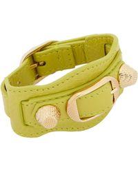 Balenciaga - Green Arena Giant Bracelet - Lyst