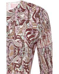 Giamba | Purple Liberty Silk Georgette Dress With Smocked Bodice | Lyst