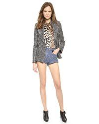 Rodarte | Gray Metallic Tweed Jacket Metallic | Lyst
