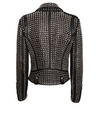 Barbara Bui - Black All Over Studded Moto Jacket - Lyst
