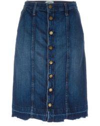 Current/Elliott | Blue Denim Pencil Skirt | Lyst