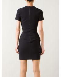 Dion Lee   Black Hem-stitched Dress   Lyst