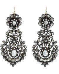 Olivia Collings - Black Rose Cut Diamond Long Day Night Earrings - Lyst