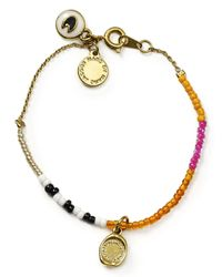Marc By Marc Jacobs | Multicolor Safety Bead Single Strand Bracelet | Lyst