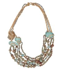 Alexis Bittar White Imperial Jasper And Amazonite Beaded Strand Necklace