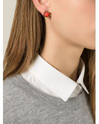 Marc By Marc Jacobs - Orange 'All Tied Up' Earrings - Lyst