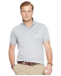 Polo Ralph Lauren - Gray Big And Tall Pima Soft-touch Polo Shirt for Men - Lyst