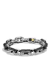 David Yurman   Metallic Pavé Carter Chain Bracelet with Black Diamonds and Gold for Men   Lyst