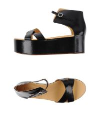 MM6 by Maison Martin Margiela | Black Sandals | Lyst