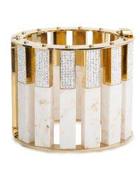 Lele Sadoughi | White Pave Mega Slider Bracelet | Lyst