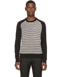 DIESEL | Black & White K-simmons Sweater for Men | Lyst