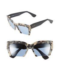 Miu Miu Gray 'rasoir' 56mm Sunglasses
