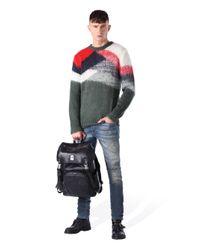 DIESEL - Green Colour Block Sweater for Men - Lyst
