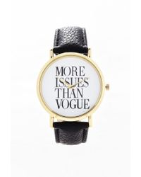 Forever 21 | Metallic Faux Leather Statement Watch | Lyst