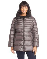 Marc New York | Purple 'Eva' Sweater Weight Down Jacket | Lyst