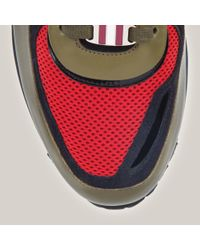 Bally Multicolor Ascar Men ́s Fabric Trainer In Cousteau Red