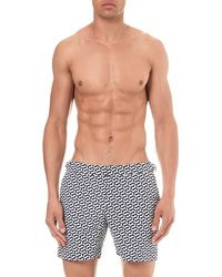 Orlebar Brown - Blue Bulldog Geometric-print Swim Shorts for Men - Lyst