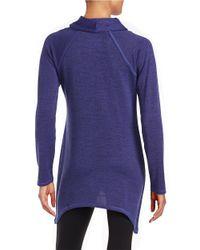 Marc New York Purple Textured Cowlneck Knit Top