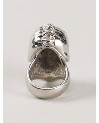 Alexander McQueen | Metallic Punk Skull Ring | Lyst