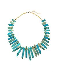 Panacea | Blue Semiprecious Stone Collar Necklace | Lyst