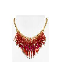 "Aqua - Pink Pammy Fireworks Necklace, 14"" - Lyst"