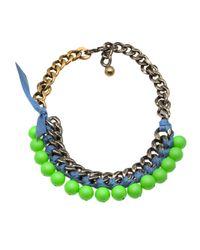 Lanvin Green Short Necklace