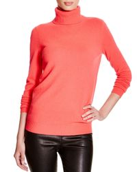 C By Bloomingdale's Pink Turtleneck Cashmere Sweater