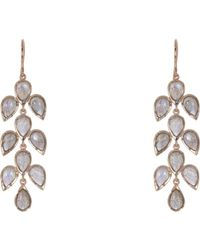 Irene Neuwirth | Metallic Leaf Drop Earrings | Lyst