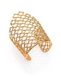 Alexis Bittar - Metallic Miss Havisham Liquid Asymmetrical Barbed Link Cuff Braceletgoldtone - Lyst