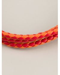 Tateossian | Yellow Braided Bracelet for Men | Lyst