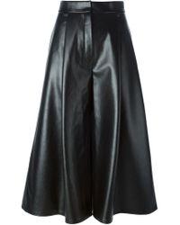 Vika Gazinskaya - Black Panelled Culottes - Lyst