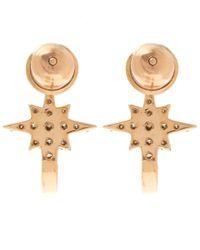Kismet by Milka Metallic 1champagne Diamond K Star Earrings