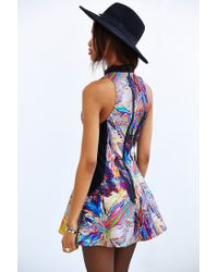 Cameo Multicolor Up The Wall Holographic Fit + Flare Dress