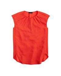J.Crew - Orange Tall Honeycomb Cocoon Top - Lyst