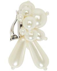 Simone Rocha | White Pearl Cluster Clip_on Earrings | Lyst