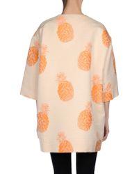 MSGM - Orange Full-length Jacket - Lyst