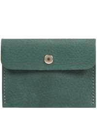 Ally Capellino - Green Tom Leather Cardholder for Men - Lyst