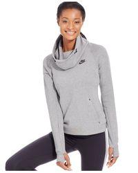 Nike | Black Tech Fleece Long-sleeve Hoodie | Lyst